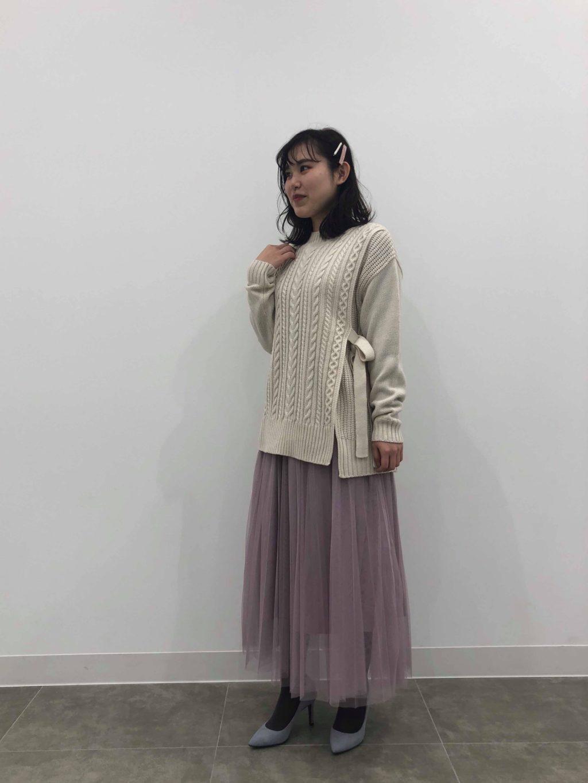 新作♡チュールプリーツロングスカート